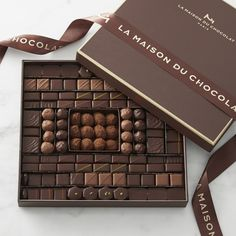 Williams Sonoma carries premium chocolate candies made with quality ingredients. Find chocolate truffles and holiday chocolate gift boxes at Williams Sonoma. Luxury Chocolate, Chocolate Shop, Chocolate Gifts, How To Make Chocolate, Chocolate Lovers, Chocolate Bonbon, Chocolate Truffles, Chocolate Angel, Marble Chocolate