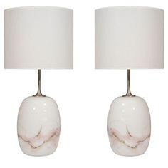 '70's Swedish marble lamps