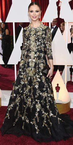 Academy Awards 2015 Red Carpet Arrivals - Georgina Chapman  - from InStyle.com