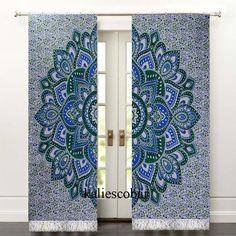 Window Curtains Kitchen Shower Mandala Curtain Panels With Tassel Unbranded Traditional