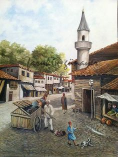 Eski istanbul Egypt Art, Rural Area, Ottoman Empire, Old Houses, Istanbul, Art Gallery, Sketches, History, Artwork