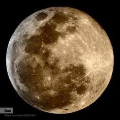 superbnature:  Moon august 30, Waning Gibbous 99% by aeroramon http://ift.tt/1Q2mJ7k