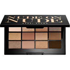 Bobbi Brown Nude On Nude Palette (575 NOK) ❤ liked on Polyvore featuring beauty products, makeup, eye makeup, eyeshadow, beauty, eye shadow, sparkle eye shadow, metallic eyeshadow, matte eye shadow and matte palette eyeshadow