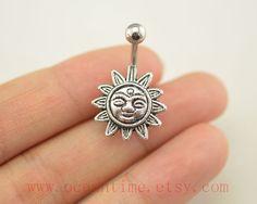 Sun flower Belly Button Rings Navel jewelrylucky by OceanTime, $4.99