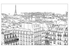 The charm of Paris in a coloring pageFrom the gallery : ParisArtist : Isabel Da Silva Azevedo