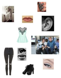 """""""Imagine Harry and Ed making you run after the golf cart to get to the stage"""" by panicatmystic on Polyvore featuring art"""