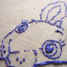The White Rabbit Embroidery Pattern by isewcute