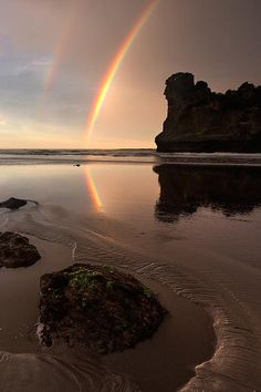 Double Down by Kah Kit Yoong via Aesthetic Pastel Wallpaper, Aesthetic Backgrounds, Aesthetic Wallpapers, Rainbow Aesthetic, Sky Aesthetic, Cute Love Pictures, Beach Pictures, Ocean Wallpaper, Nature Wallpaper