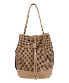 Nude Frances Bucket Bag by Melie Bianco