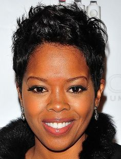 African American short black hairstyle