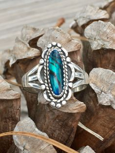 Southwest Jewelry Band Ring for Women 925 Sterling Silver Kingsman Turquoise Gift Size 8 – Fine Jewelry & Collectibles Sterling Silver Layered Necklace, Layered Necklaces Silver, Sterling Silver Jewelry, Boho Jewelry, Jewelry Gifts, Vintage Jewelry, Paua Shell, Abalone Shell, Southwest Jewelry