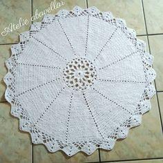 tapetão em croche de barbante modelo mandala  exclusividade do Blog www.abavellar.blogspot.com