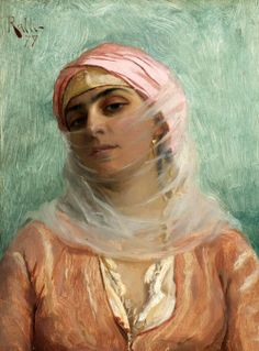 "vuillar: ""Young Turkish Woman"" (1879), Theodoros Ralli (1852 - 1909)"