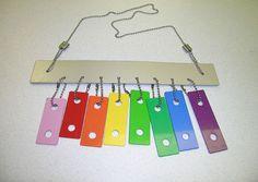carillon à vent multicolore