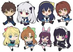 AmiAmi [Character & Hobby Shop] | Absolute Duo - Petanko Trading Rubber Strap 8Pack BOX(Released)