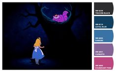 Paint colors from ColorSnap by Sherwin-Williams. Inspired by Disney Alice in Wonderland.