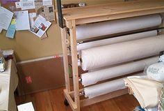 Fabric rack on wheels