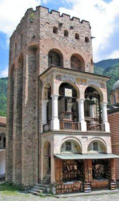 UNESCO World Heritage Site.                                Archive Castle Photo,  Rila Monastery. Sofia, BULGARIA