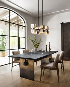 Ombre Dining Table at Horchow. Dining Table Price, Dining Table Design, Modern Dining Table, Black Dining Room Table, Natural Wood Dining Table, Dining Table Decorations, Lighting For Dining Room, Chairs For Dining Table, Black Dining Room Furniture