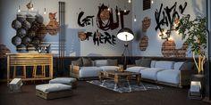 Industrial Apartment #home #industrialdesign #industrialhome #interiordesign #interiorrender #rendering #visualart #cgi #archiviz #renderbox #render_contest #closeup #details #vray #coronarender #instarender #decor #decoration #3d #architecture #architectureporn #realestate #3dsmax #designlover #design