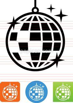 Vector Disco Ball Icon - Illustration