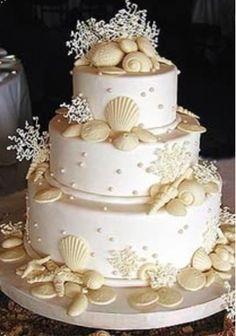 Beach/tropical wedding  Cake