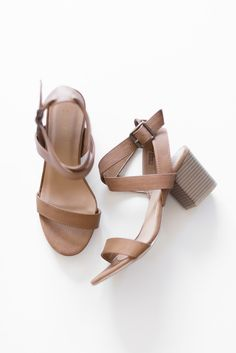 "Light tan faux leather sandals with multi ankle straps and adjustable buckle closure. Lightly padded insole with a non-skid rubber sole. Small 2.5"" heel. Made with all man made material. True to US size.  Imported"