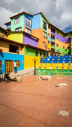 Lovely architecture in Guatape, Colombia. It simply induces you a great mood!