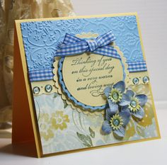Thinking of You Card - Greeting Card - Handmade Card - Stampin Up -OOAK. $3.95, via Etsy.  Love the colors.