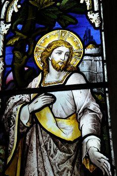 Wyck Rissington chancel south-west window stained glass by Hardman 1896 -128