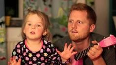 "Father And Daughter singing ""Tonight You Belong to Me.""  This is absolutely precious!  Hats off to a daddy who plays sweet music on a PINK guitar."