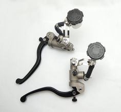 104.00$  Watch here - http://aliylx.worldwells.pw/go.php?t=32631562454 - Universal Motorcycle Brake Clutch Levers Master Cylinder Kit Stainless Steel Aluminum Alloy Accessories
