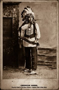 Oglala Chief American Horse American Indian Tattoos, Native American Photos, Native American Artists, Native American History, Native American Indians, Indian Chief Tattoo, Native Tattoos, First Nations, Mayan Symbols