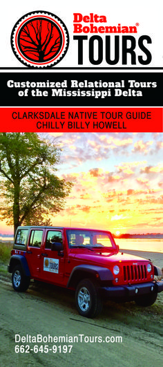 Get all our Delta Bohemian Tour info here. You'll enjoy a customized Mississippi Delta driving tour from Clarksdale native Chilly Billy Howell. Mississippi Delta, Tour Guide, Bohemian, Tours, Travel Guide, Boho