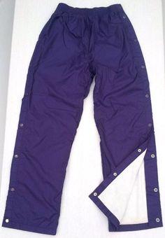 Acadia Windpants w Breakaway Snap Sides Fleece Lined Purple Women's Sz S Warm #Acadia #TracksuitsSweats