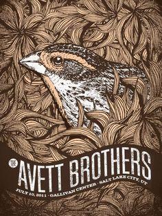 Avett Brothers ~ Status Serigraph