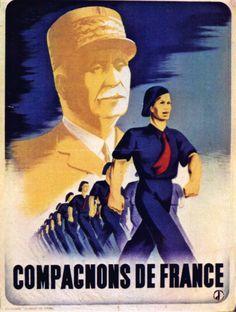 Affiches Politiques 1939-1945 - Abrupt - Compagnons De France 1941 Par Eric