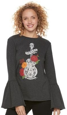 767ed2976 Disney / Pixar Coco Juniors' Bell Sleeve Graphic Sweatshirt - $21.99 Disney  Inspired, Disney