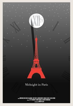 Minimal Movie Posters For Best Picture - Midnight in Paris