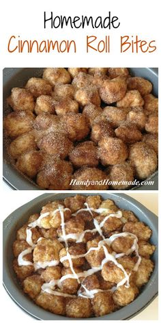 Homemade Cinnamon Roll Bites Recipe