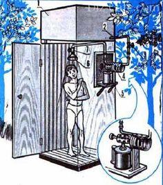 Летний душ для дачи: постройка своими руками + некоторые чертежи Campaign Furniture, Outdoor Baths, Composting Toilet, Cool Tech, Tiny House Design, Project Yourself, Shelter, Home Furniture, Diy And Crafts