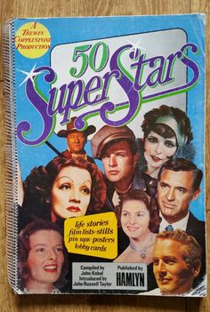 A Wonderful Book - 50 Super Stars Compiled By John Kobal, Published By Hamlyn 1974, Vintage Movie Super Stars-Pin Ups, Posters, Lobby Cards by OnyxCollectables on Etsy