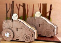 KOKOMU Go-Go Car Wooden Music Box DIY Kits