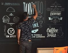 """Check out new work on my @Behance portfolio: """"Chalk Wall and Calligraphy""""…"""