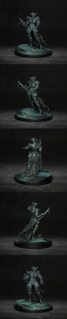 Kingdom Death Sci-Fi Flower Knight by Vardek. Sci Fi Miniatures, Mini Paintings, Fantasy Inspiration, Knight, Death, Sculpture, Flowers, Design, Sketches