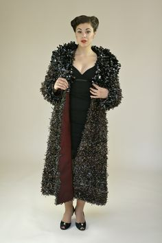 Who needs fur when you can have your very own VHS tape coat to keep you warm. :)