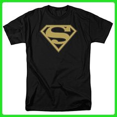 Superman - Gold and Black Shield T-Shirt - Superheroes shirts (*Amazon Partner-Link)