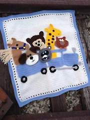 Annies New Crochet Downloads - Critter Caboose Afghan Pattern