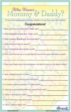 Mommy & Daddy Trivia we could change some if the question to make it personal :)