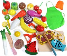 Lewo 33 Pcs Play Food Toys Cutting Fruit Vegetables Set Magnetic Wooden Cooking Food Pretend Play Kitchen Kits Early Educational Toys for Toddlers Boys Girls Kids *** Check this awesome product by going to the link at the image. (This is an affiliate link)